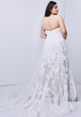 Strapless Lace Detailed A-line Wedding Dress by Watters - Image 2