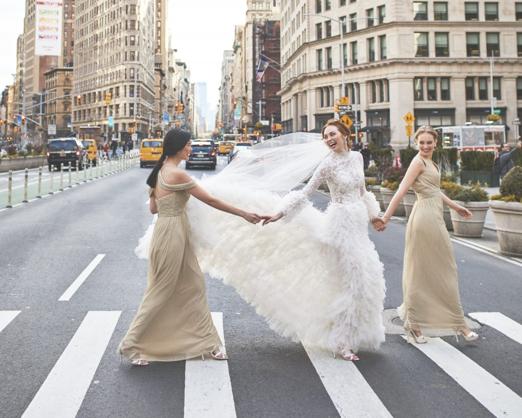 Kleinfeld Bridal Party Winter Wedding Bridesmaids