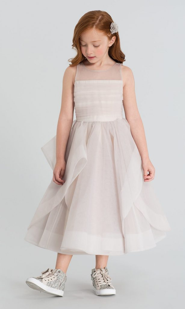 LA PETITE BY HAYLEY PAIGE DORA TULLE FLOWER GIRL DRESS Kleinfeld Bridal Party