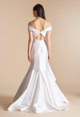 Off The Shoulder Ruched Bodice And Modern Ruffled Skirt Wedding Dress by Allison Webb - Image 2