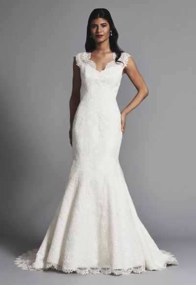 Lace Cap Sleeves Fit And Flare Wedding Dress