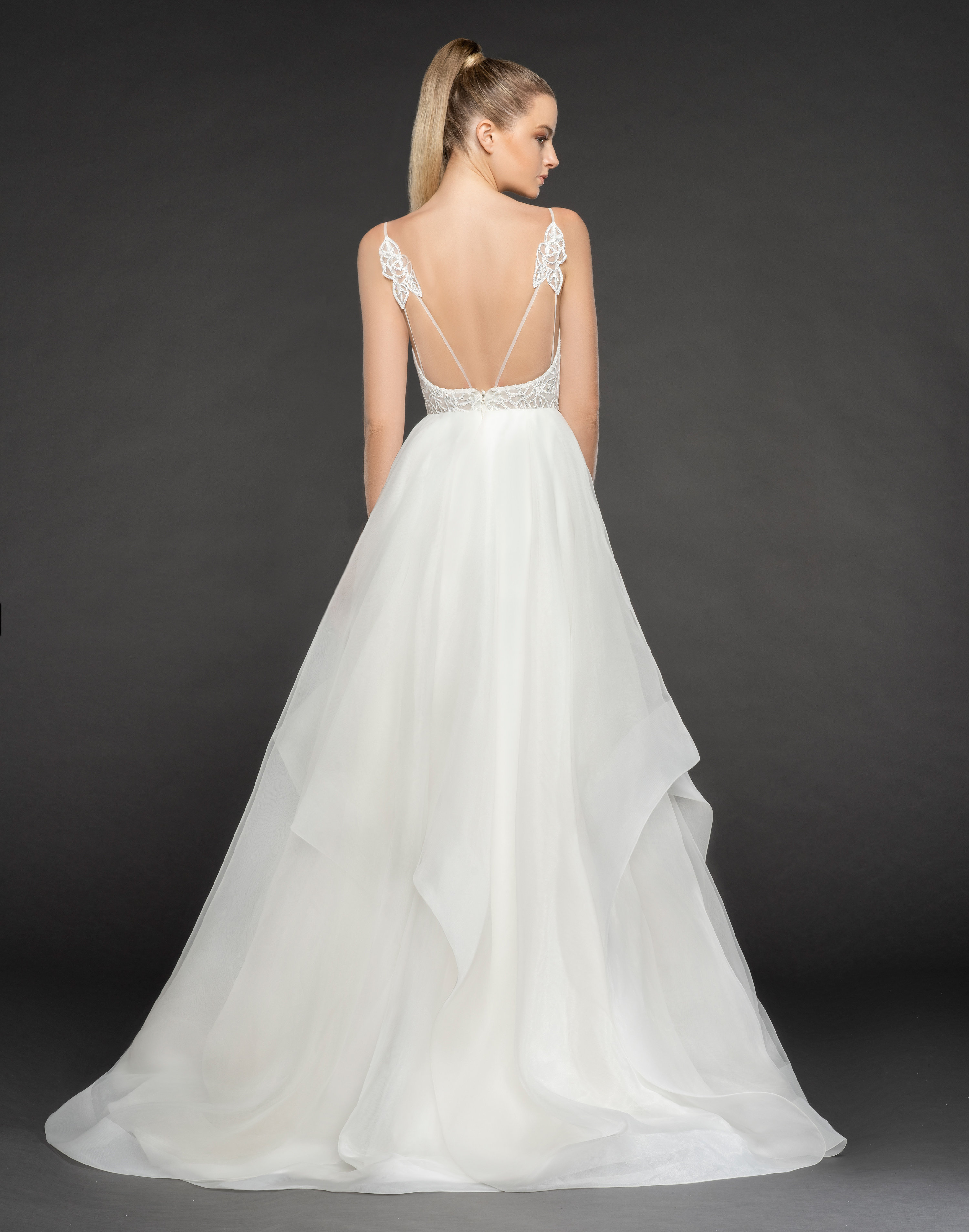 Deep Sweetheart Neckline Beaded Floral Detailed Bodice Ball Gown ...