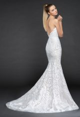 Strapless Beaded Fit And Flare Wedding Dress With Scallop Accent by BLUSH by Hayley Paige - Image 2