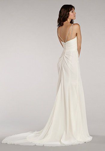 Sweetheart Neckline Sequin Spaghetti Straps A-line Wedding Dress by BLUSH by Hayley Paige - Image 2