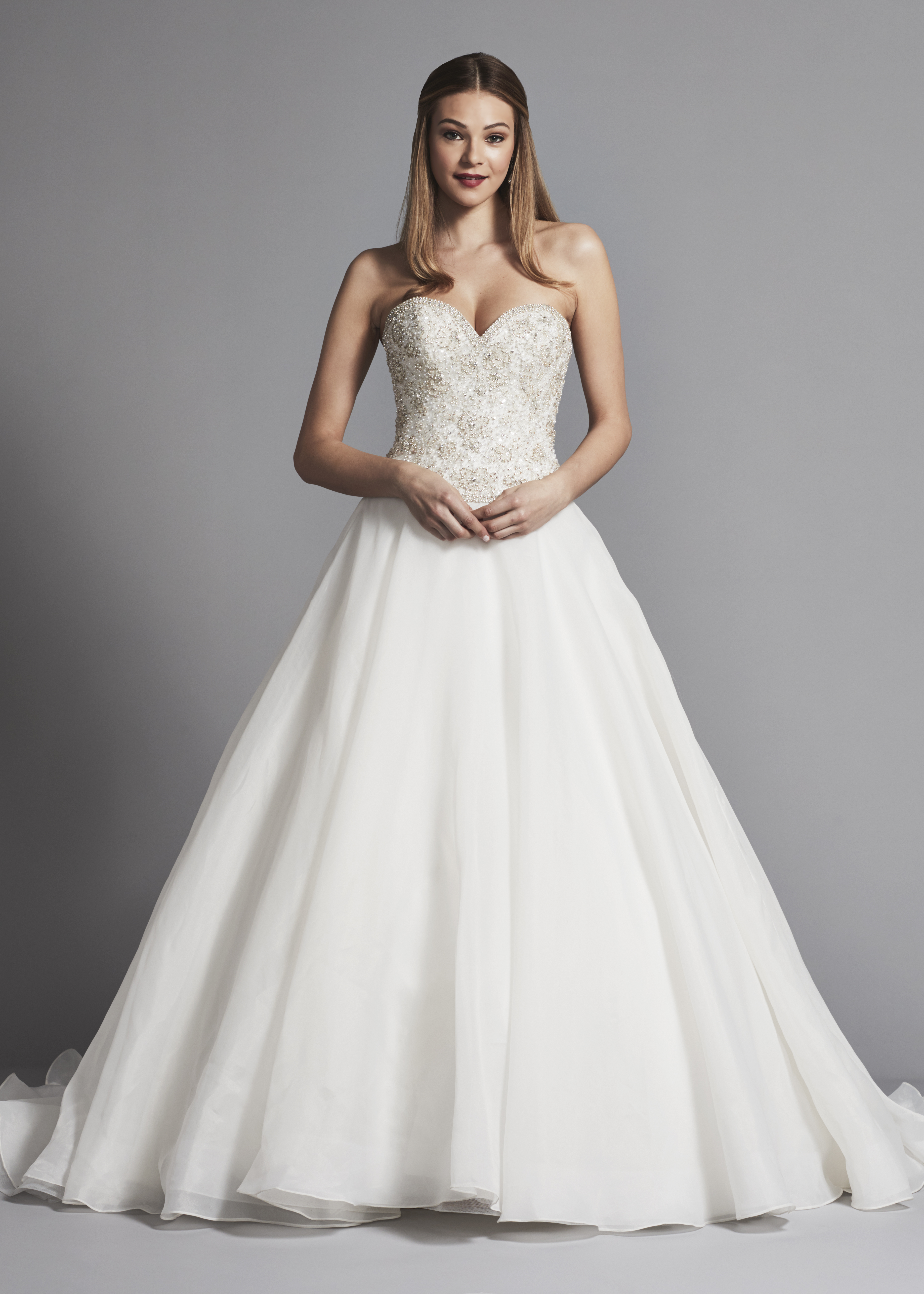 b99c06cc7e65 Classic Strapless Sweetheart Ball Gown Wedding Dress With Beading |  Kleinfeld Bridal