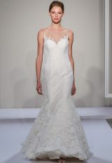 Illusion Sweetheart Neckline Lace Fit And Flare Wedding Dress by Dennis Basso - Image 1
