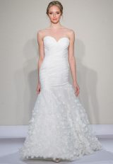 Ruched Sweetheart Strapless Bodice Fit And Flare Wedding Dress by Dennis Basso - Image 1