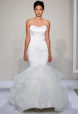 Sweetheart Neckline Full Ruffle Skirt Mermaid Wedding Dress by Dennis Basso - Image 1