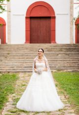 Ball Gown Wedding Dress With Tulle Skirt by Edgardo Bonilla - Image 1