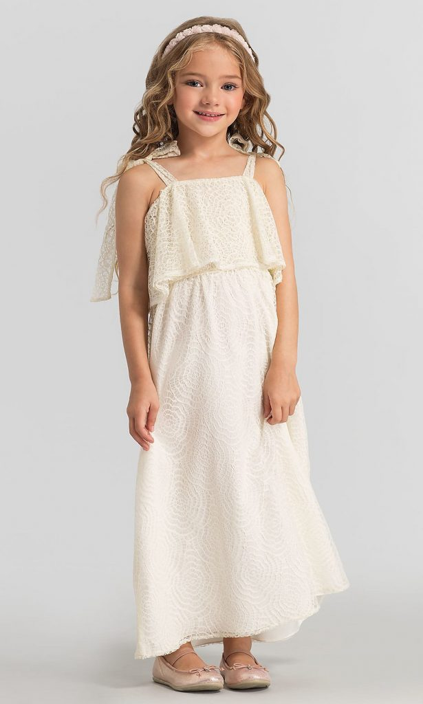 SAVANNAH LACE BABES OF THE NILE FLOWER GIRL DRESS Kleinfeld Bridal Party