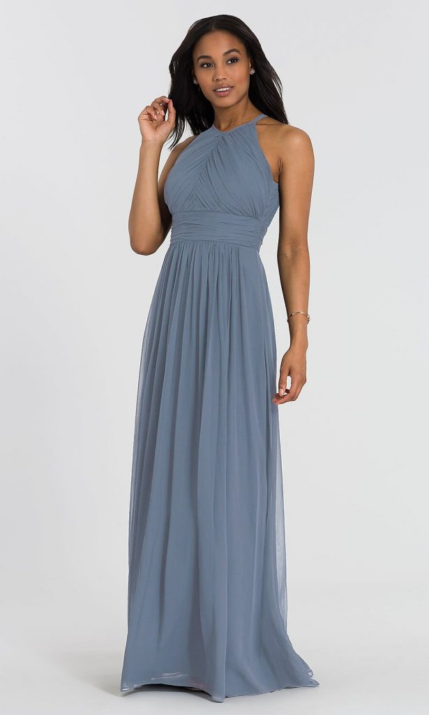 LONG DESSY COLLECTION BRIDESMAID DRESS 2918 Kleinfeld Bridal Party