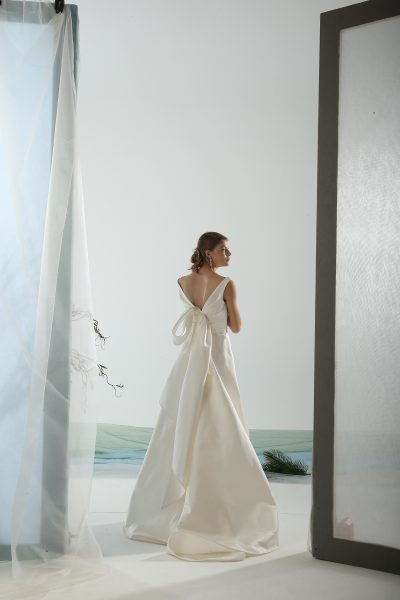 Sleeveless A-line Wedding Dress With Back Detailing by Le Spose Di Gio - Image 1