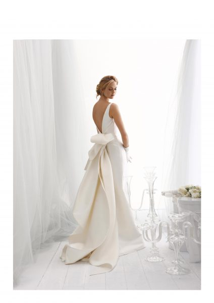 Sleeveless Fit And Flare Wedding Dress With Back Details by Le Spose Di Gio - Image 1