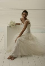 V-neck Lace Sleeveless A-line Wedding Dress by Le Spose Di Gio - Image 1