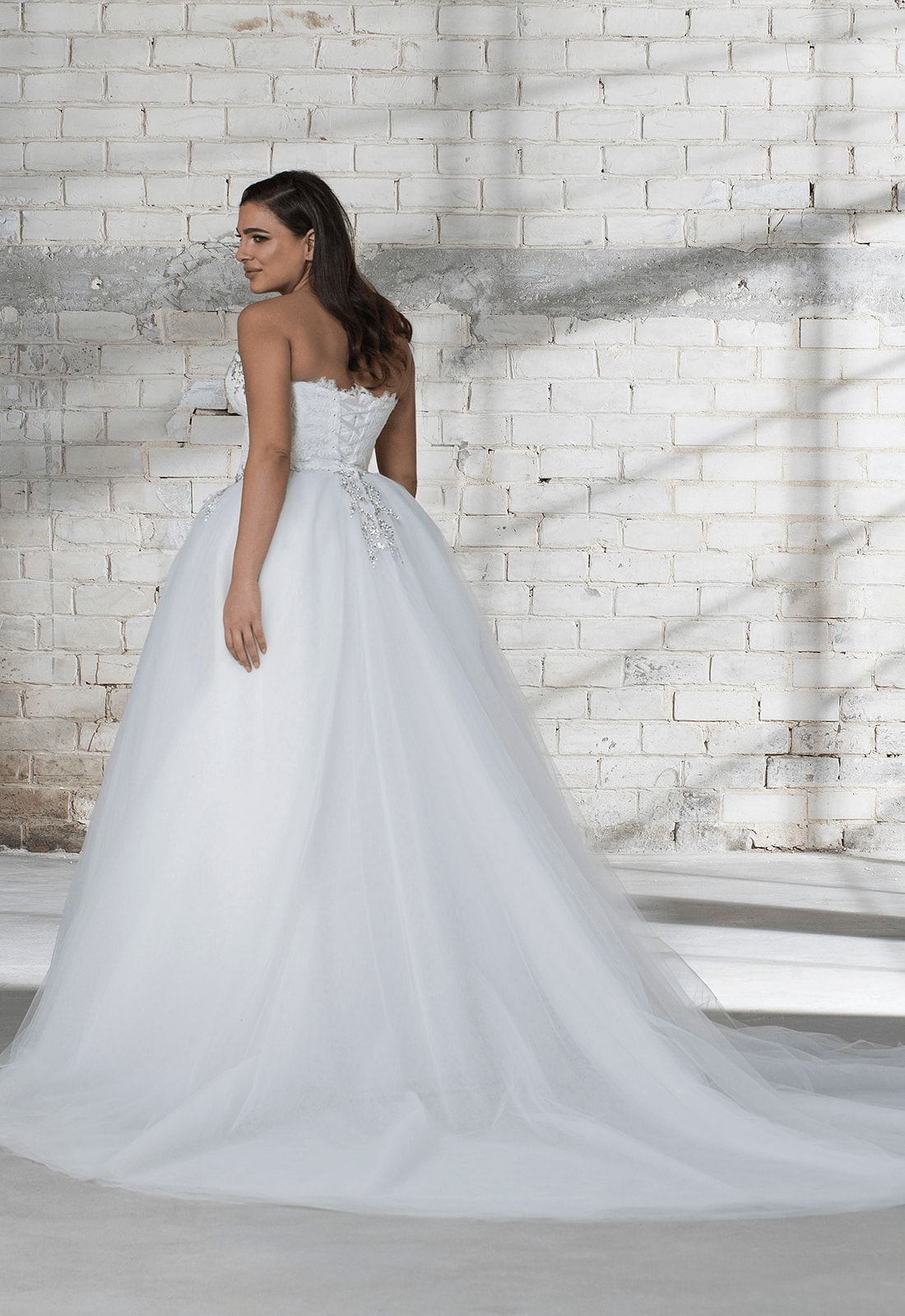 Corset Beaded Bodice With Tulle Ball Gown Skirt Wedding Dress ...