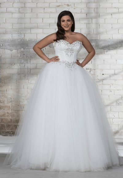 Corset Beaded Bodice With Tulle Ball Gown Skirt Wedding Dress by Love by Pnina Tornai