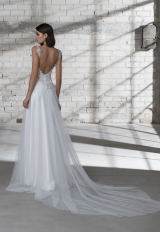 Sleeveless A-line Tulle Skirt With Corset Bodice Wedding Dress by Love by Pnina Tornai - Image 2