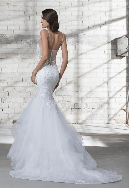 Strapless Beaded Bodice A-line Wedding Dress by Love by Pnina Tornai - Image 2