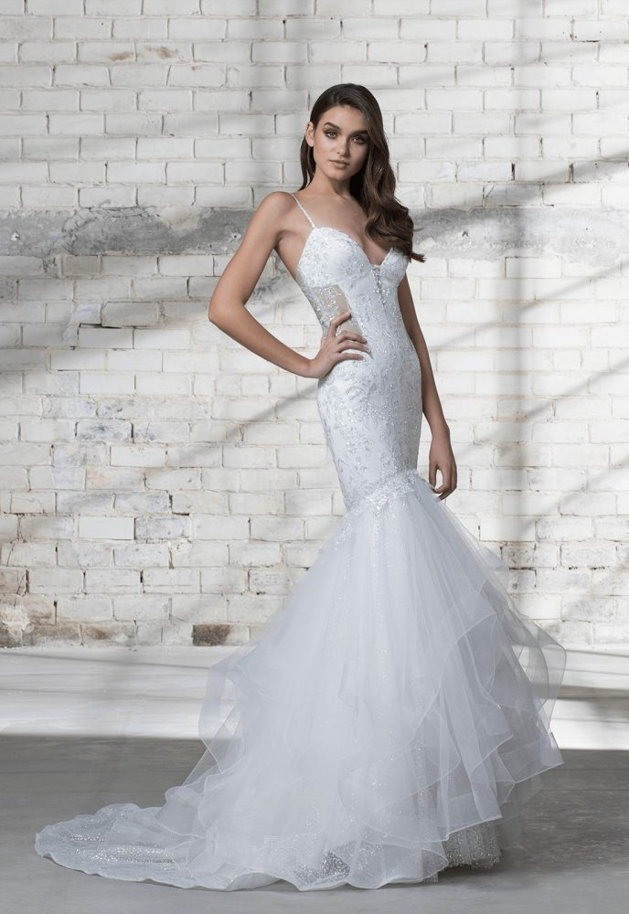 Strapless Beaded Bodice A-line Wedding Dress by Love by Pnina Tornai - Image 1