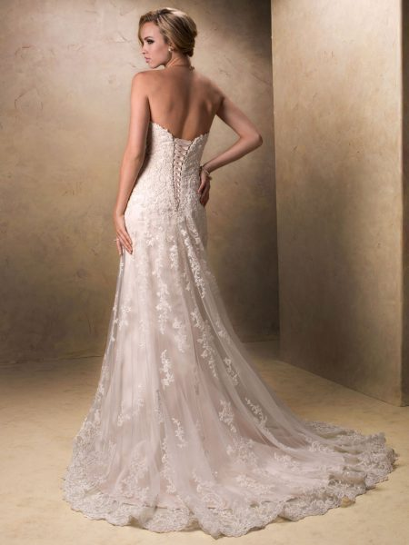 Beaded Sweetheart Neckline A-line Wedding Dress by Maggie Sottero - Image 2