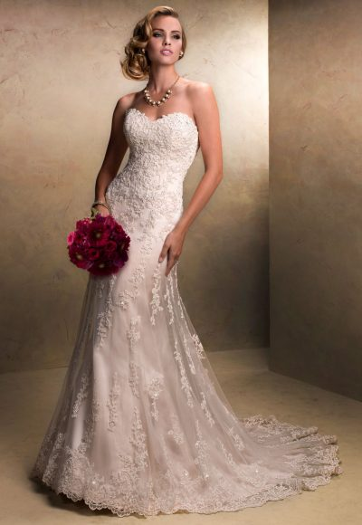 Beaded Sweetheart Neckline A-line Wedding Dress by Maggie Sottero