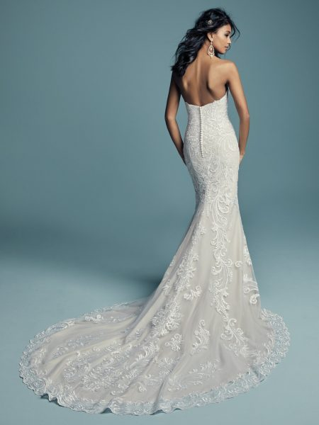 Beading And Embroidered Fit And Flare Wedding Dress