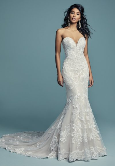 Beading And Embroidered Fit And Flare Wedding Dress by Maggie Sottero