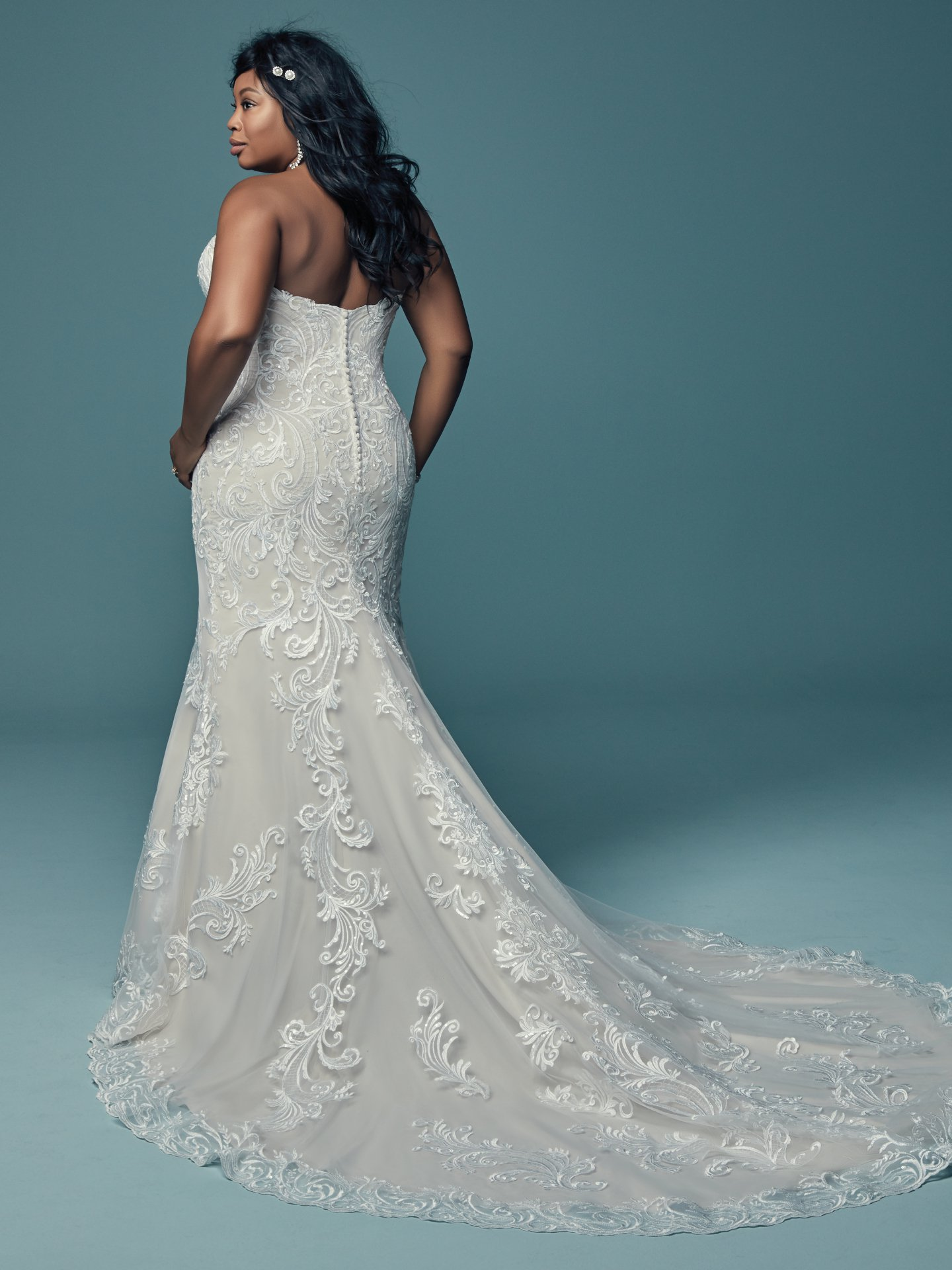 Beading And Embroidered Fit And Flare Wedding Dress | Kleinfeld Bridal
