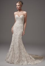 Fully Beaded Sweetheart Neckline Fit And Flare Wedding Dress by Maggie Sottero - Image 1