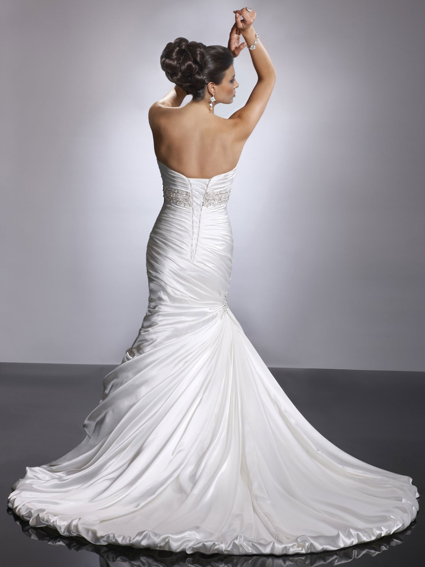 Ruched Sweetheart Bodice Fit And Flare Corset Back Weddng Dress Kleinfeld Bridal