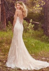 Spaghetti Strap Beaded Fit And Flare Wedding Dress by Maggie Sottero - Image 2