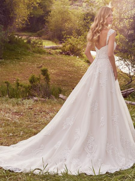 Sweetheart Neckline Beaded Bodice Full Skirt A-line Wedding Dress by Maggie Sottero - Image 2