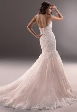 Sweetheart Neckline Lace And Tulle Fit And Flare Wedding Dress by Maggie Sottero - Image 2
