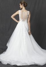 Illusion Sweetheart Sleeveless Lace Bodice Tulle Skirt A-line Wedding Dress by Michelle Roth - Image 2