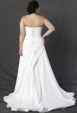 Strapless Sweetheart Ruched A-line Wedding Dress by Michelle Roth - Image 2