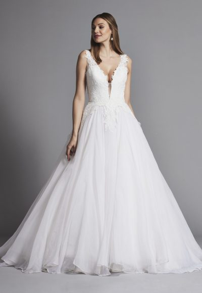 Classic And Romantic Lace And Organza Ball Gown Wedding Dress by Pnina Tornai