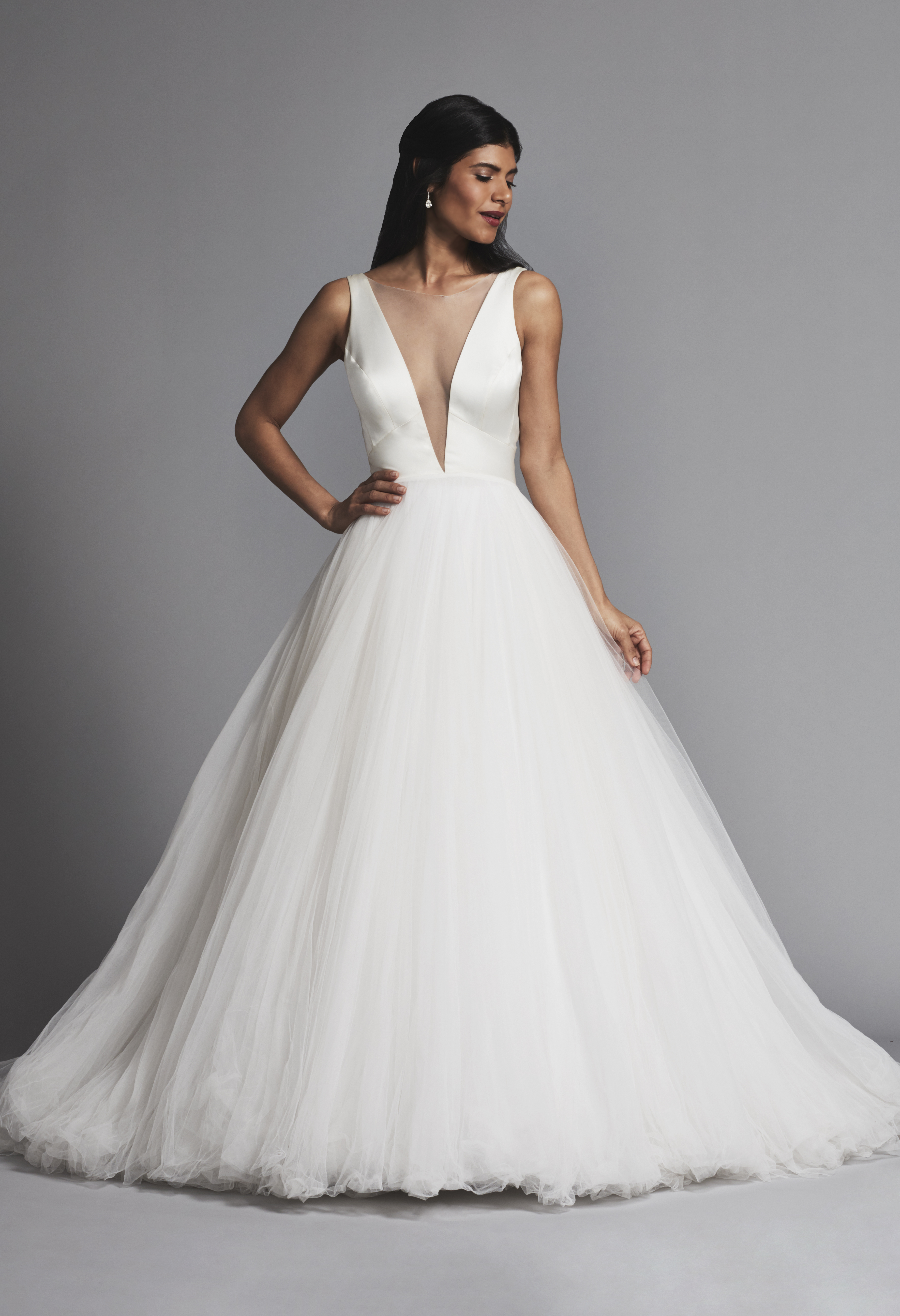 e5e7bc770bc Classic And Romantic Satin And Tulle Ball Gown Wedding Dress ...