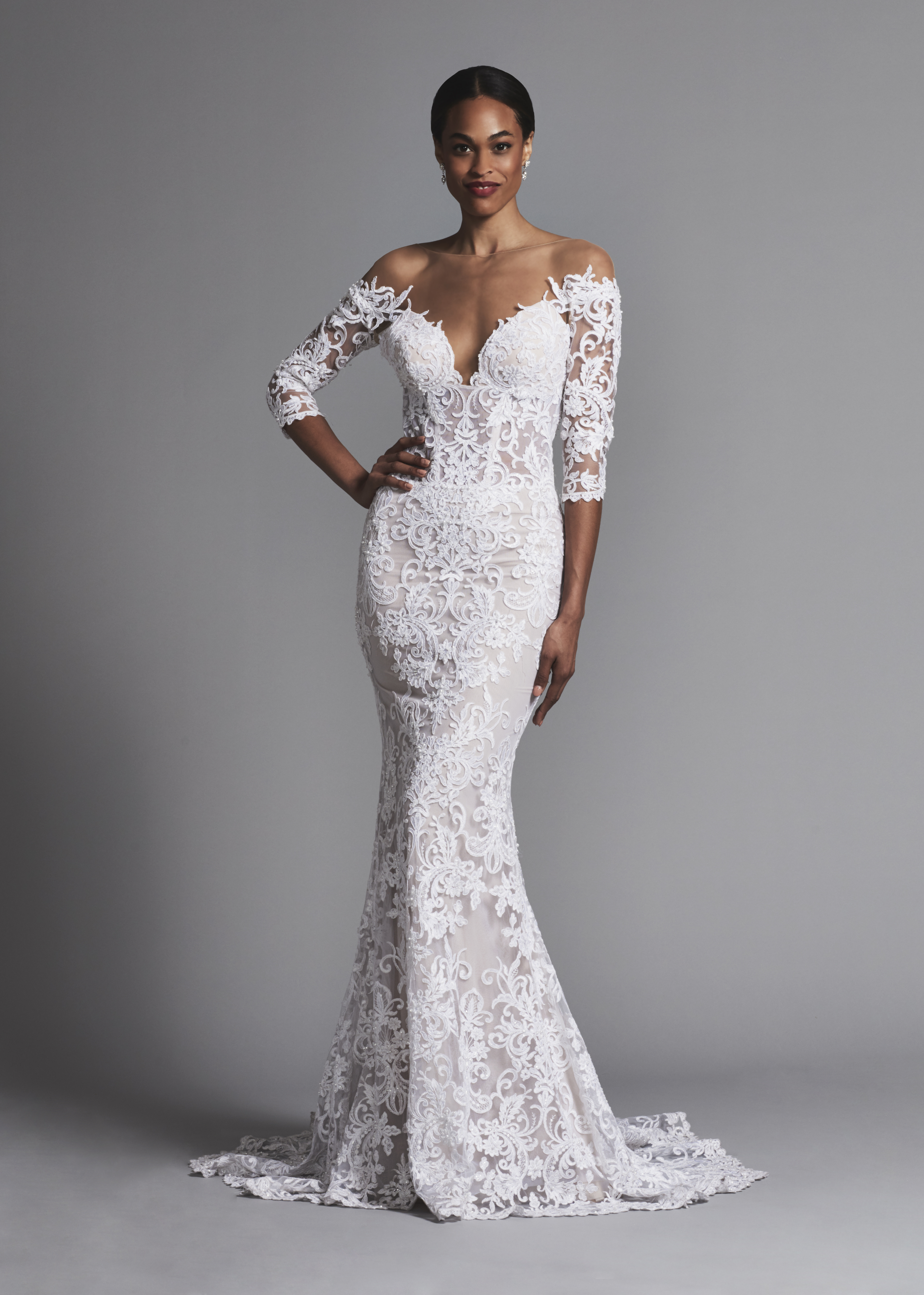 All Lace Wedding Dresses with Sleeves
