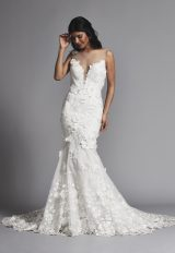 Sleeveless Illusion Sweetheart Fit And Flare Wedding Dress by Pnina Tornai - Image 1