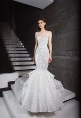 Sequin Detailed Sleeveless Mermaid Wedding Dress by Tony Ward - Image 1