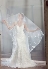 Sleeveless Appliqued Fit And Flare Wedding Dress by Sareh Nouri - Image 2