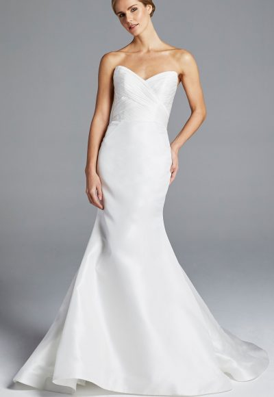 Sweetheart Neckline Ruched Bodice Wedding Dress by Anne Barge