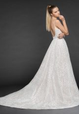 Spaghetti Strap Floral Detailing Ball Gown Wedding Dress by BLUSH by Hayley Paige - Image 2