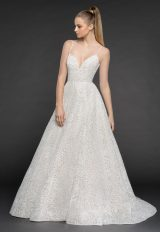Spaghetti Strap Floral Detailing Ball Gown Wedding Dress by BLUSH by Hayley Paige - Image 1