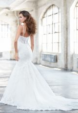 Spaghetti Strap V-neckline Beaded And Embroidered Mermaid Wedding Dress by Madison James - Image 2