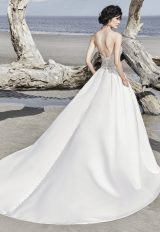 Strapless Sweetheart Sequin Bodice Satin Skirt Ballgown Wedding Dress by Maggie Sottero - Image 2