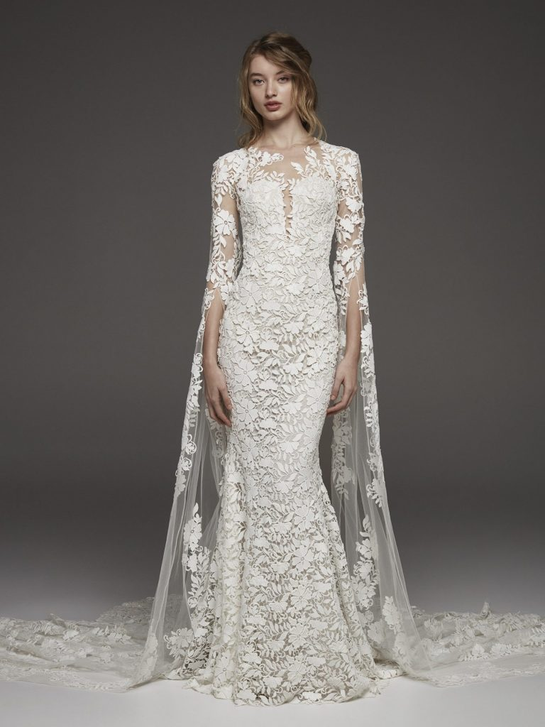 pronovias-couture-3-4-sleeve-lace-detailed-sheath-wedding-dress-33820002-1350x1800