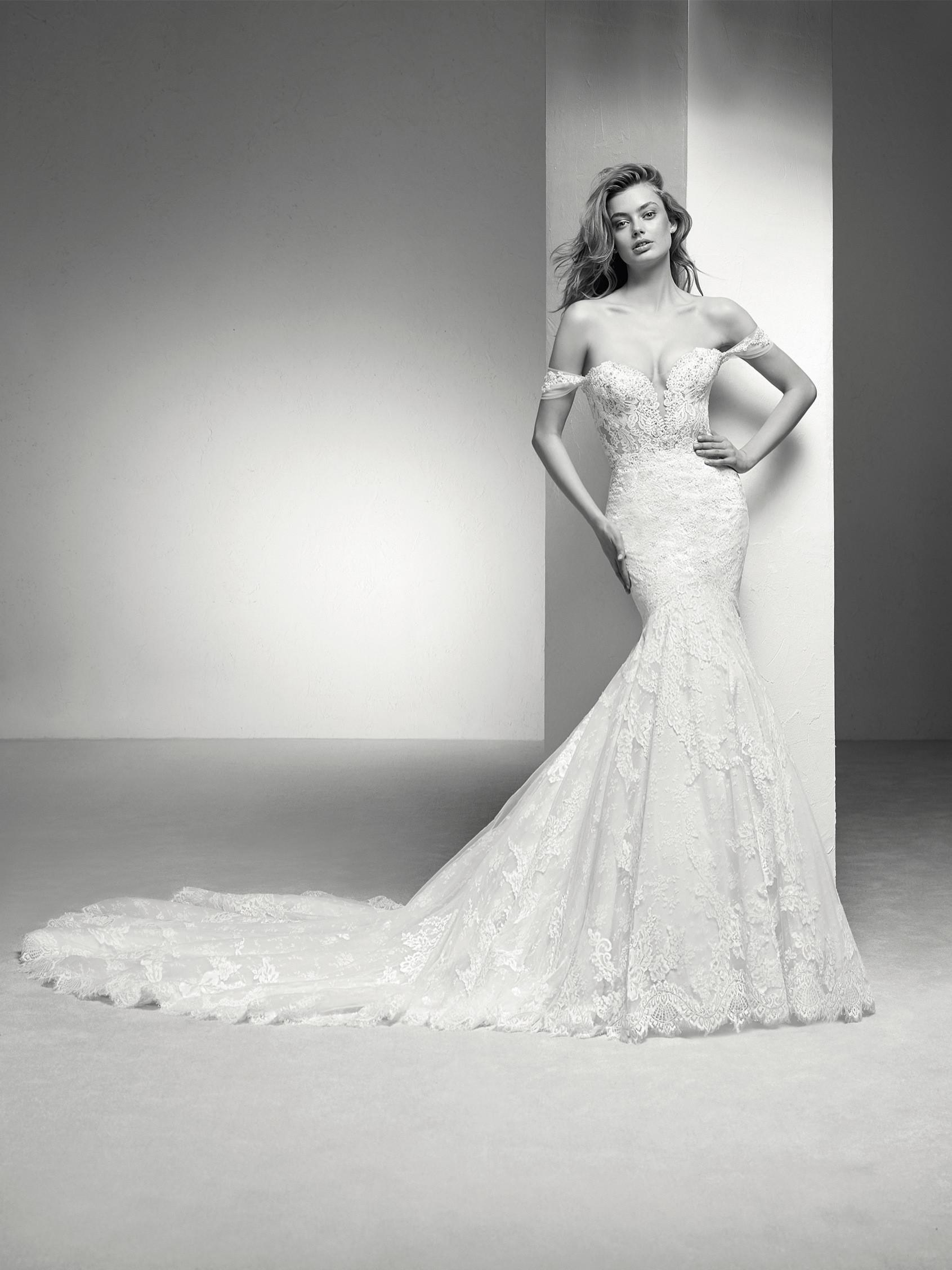 Off The Shoulder Sweetheart Neckline Lace Mermaid Wedding Dress ...