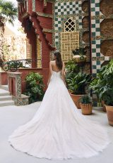 Strapless Sweetheart A-line Lace And Tulle Wedding Dress With Dramatic Train by Pronovias x Kleinfeld - Image 2