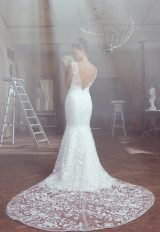 Sleeveless Appliqued Fit And Flare Wedding Dress by Sareh Nouri - Image 1